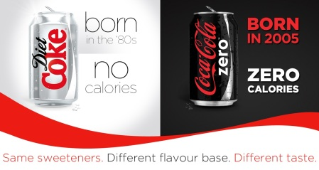 Diet Coke vs Coke Zero